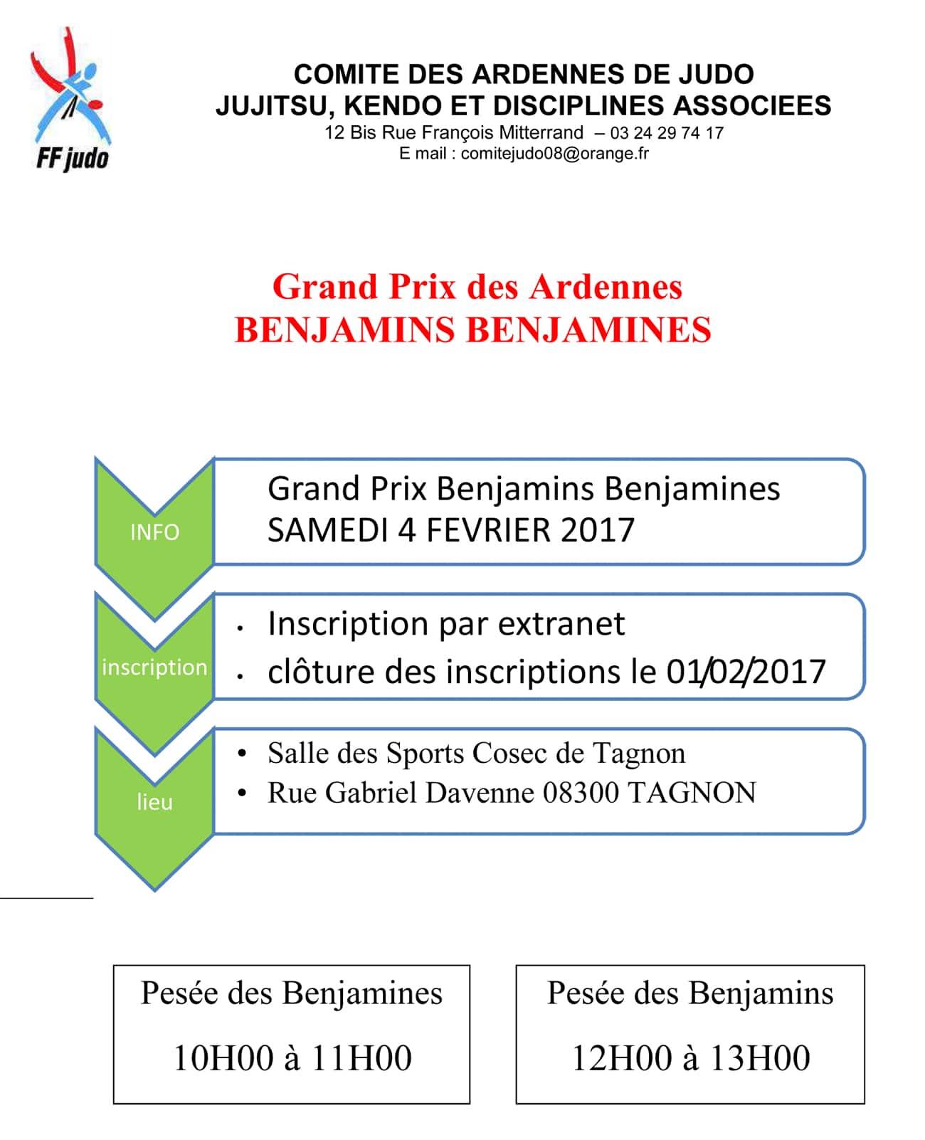 Grand Prix des Ardennes Benjamins-Benjamines