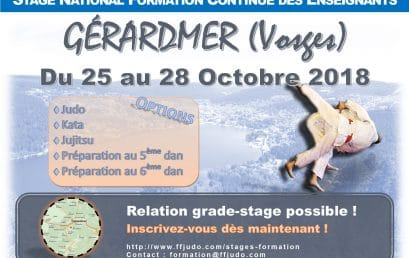 Stage National des Enseignants à Gérardmer