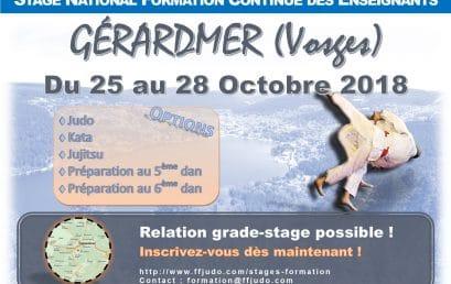 Stage National des Enseignants à Gérardmer