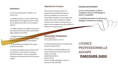 Licence Professionnelle AGOAPS