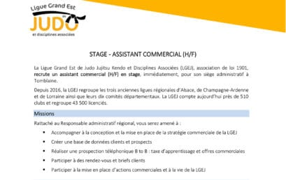Stage d'assistant commercial (H/F)