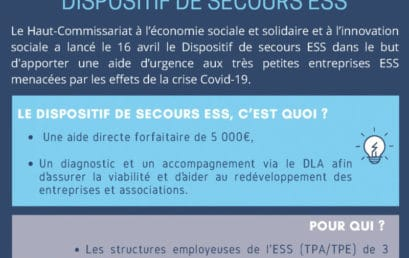 DISPOSITIF DE SECOURS AUX ASSOCIATIONS ESS