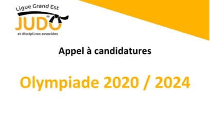 Appel à candidatures – Olympiade 2020/2024