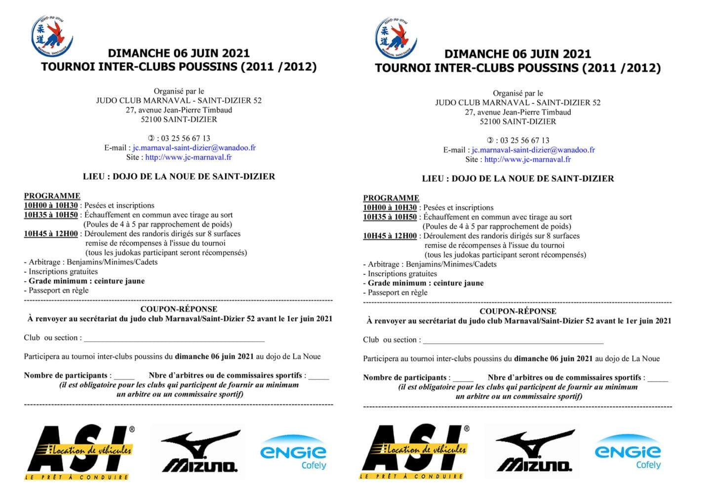 Affichettes tournoi inter-clubs poussins 2021
