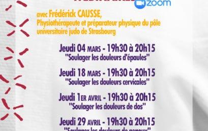 WEBINAIRES «Lutter contre les douleurs du sport» avec Frederick CAUSSE